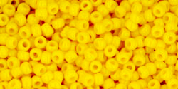 TOHO seed beads, storlek 11/0 (2.2mm), Opaque Sunshine, 10g