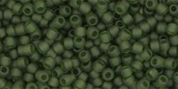 TOHO seed beads, storlek 11/0 (2.2mm), Transparent-Frosted Olivine, 10g