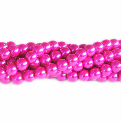 Vaxade glaspärlor, 8mm, cerise, 50st