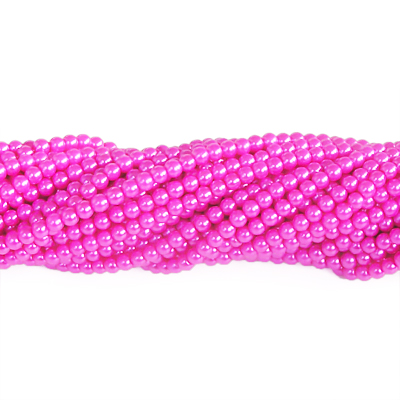 Vaxade glaspärlor, 4mm, cerise, ca 100st