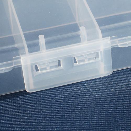Omtyckta Förvaringslåda av klar plast med 5 fack, 18x10x3cm - Förvaring TZ-72