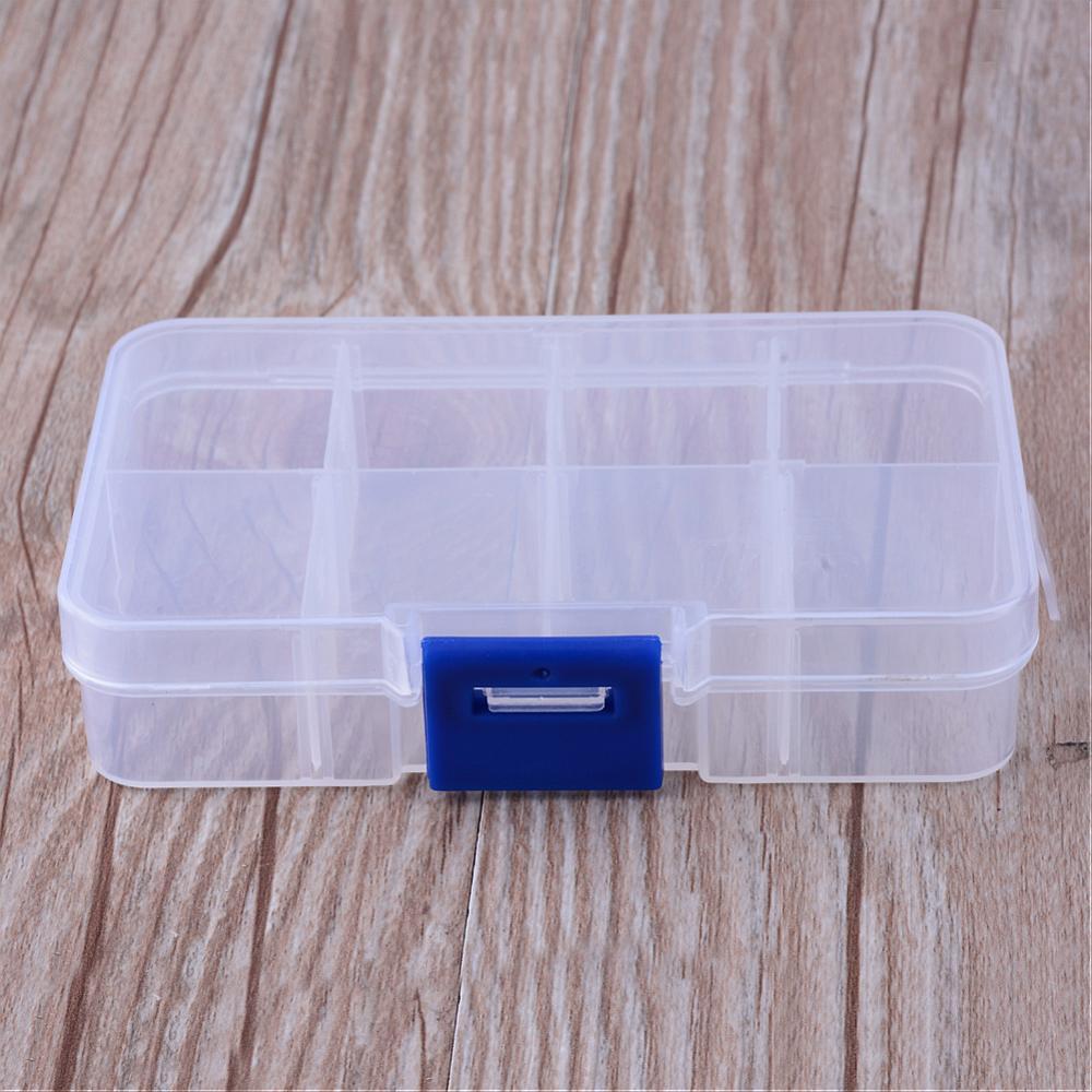 Omtyckta Liten förvaringslåda av klar plast med 8 fack, 10x7x2.5cm NB-08
